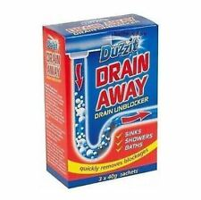 DUZZIT DRAIN AWAY DRAIN UNBLOCKER CLEANER BATH SHOWER SINK