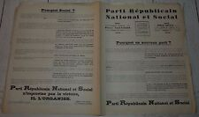 POLITIQUE PARTI REPUBLICAIN NATIONAL ET SOCIAL PIERRE TAITTINGER 1936