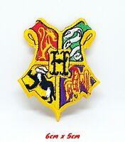 Harry Potter Hogwarts Yellow Iron Sew on Embroidered Patch #1172