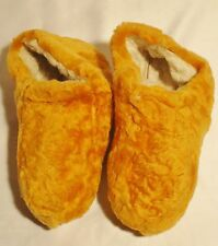 NEW! Women Orange Color Soft Sheepskin Shearling Slippers Real Leather size 6