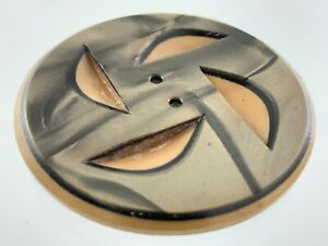 Carved Bakelite Brown/Beige Color Garment Button 1.6in Marble Pattern 345B