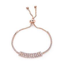 Rose Gold CZ Band Adjustable Tennis Bracelet