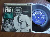 BILLY FURY - PLAY IT COOL EP - UK IST DECCA DFE 6708 / 1962 EX/NM VERY FEW PLAYS