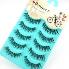 Handmade 5 Pairs Hair False Eyelashes Wispy Cross Long Lashes Makeup Soft Hair