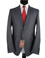 ETRO NWT Suit Size 40R In Gray with Blue Dots