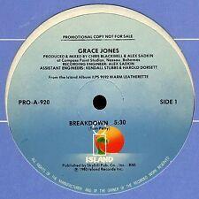 """Grace Jones Breakdown, Edit , Warm Leatherette  - US DJ 12"""""""