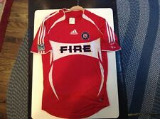 2005 Chicago Fire Adidas Climacool Red Home Soccer Jersey SZ S - Cool