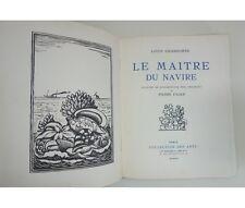 CHADOURNE Le Maître du navire. Bois originaux de FALKE 1925 Crès NUM RARE