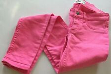 "Hollister Junior Jeans Size W 24""/L 29"" Hot Pink  Denim Skinny Slim Stretch"