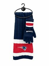 New England Patriots Scarf & Glove Gift Set [NEW] NFL Hat Winter Cold Scarve