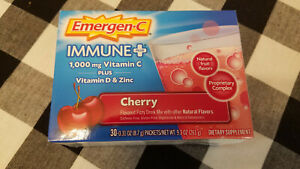 Emergen-C Immune+ Vitamin C, Plus D And Zinc (30 Count, Cherry Flavor) May/2022