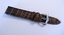 Genuine Crocodile high quality leather watch strap band 18mm new