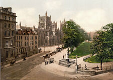 "PS4 Vintage 1890's Photochrom Photo - College Green Bristol Print A3 17""x12"""