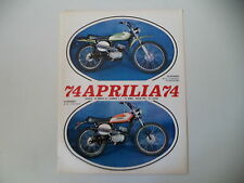 advertising Pubblicità 1974 MOTO APRILIA SCARABEO 50