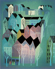 "Eyvind Earle     ""Village""    MAKE  OFFER    DSS*"