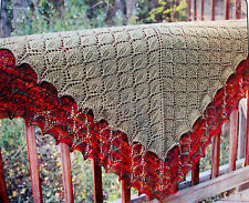 Gorgeous Beaded Lace Leaf Shawl to Knint in Any Weight Yarn by Fiber Trends