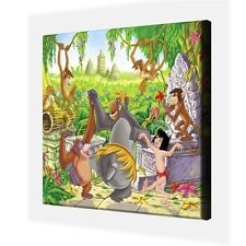 """CLASSIC DISNEY FILM - JUNGLE BOOK  - CANVAS PICTURE 10"""" x 10"""" - ONLY  £7.99"""