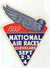 Air Show Cleveland  OH  Races  Vintage Looking  1939  Travel Decal Sticker