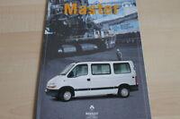 126335) Renault Master Combi Prospekt 08/1998