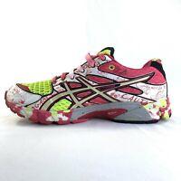 Asics Gel Noosa Tri 6 Womens Sz 8 Athletic Running Shoes Pink White Green T163N