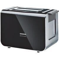 Siemens TT86103 Schwarz-Anthrazit Elektro-Klein 2-Scheiben-Toaster 860 Watt