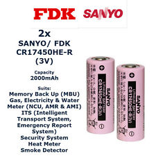2x SANYO CR17450HE-R Specialised Lithium Cylindrical Cell - High Power Type