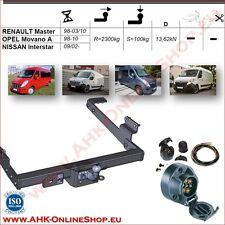 Gancio traino fisso Renault Master 1998-2010 + kit elettrico 7-poli