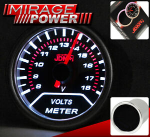 Universal Auto Car Voltmeter Voltage Gauge Meter Race Pod Smoke Tint Red Needle