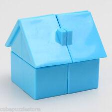 YJ House Shape Magic Cube Cartoon Maze Games Twist Puzzle Toys Kids Gift Blue