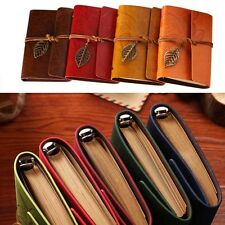 Vintage Diary Notebook String Leaf Travel Leather Paper Journal Book Sketchbook