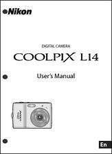 Nikon CoolPix L14 Digital Camera User Guide Instruction  Manual