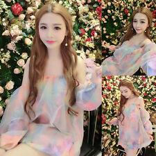 Girls Cute Sweet Princess Lolita Kawaii  Dolly colorful flower printing dress