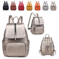 Ladies Zip Rucksack Girl Festival Backpack Shoulder Bag Metallic Handbag MA36560