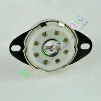 10pc silver 8pin Ceramic vacuum tube socket loctal for 5B254 audio amps guitar