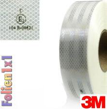 1 m x 55mm 3M Diamond Grade Konturmarkierung weiß ECE Reflexfolie Reflektor LKW