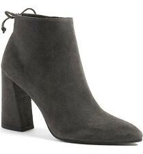 $525 Stuart Weitzman Boots Ankle Slate Gray Suede Bootie 9 Grandiose Pointy Toe