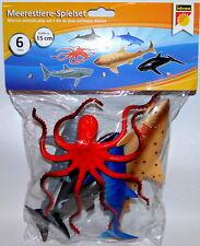 6 er Set Meerestiere Spielset Spielzeug Figuren verschiedene ca. 15 cm NEU