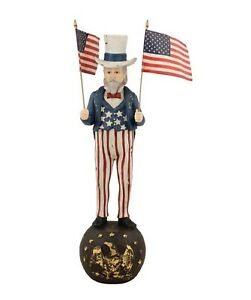 "Bethany Lowe 12"" Uncle Sam With Flags TD5018"