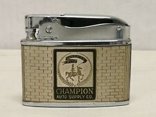 Flat Advertising Lighter Champion Auto Supply Co. RARE Made In Japan