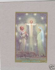 Vintage Catholic Holy Bible Prayer Card 1930s  Printed in Canada Gold Guild