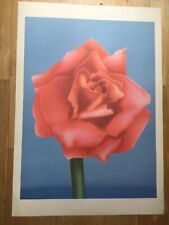 Adrian George Print Pychedelic 60s botanical poster Rose Pop Art  Ltd Ed