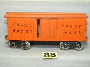 ORIGINAL LIONEL STANDARD GAUGE TINPLATE #114 CM&STP BOXCAR READY TO RUN