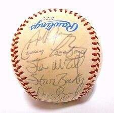 Rickey Henderson Carney Lansford 1983 Oakland A's TEAM Signed Autographed Ball