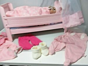Zapf Baby Annabell light up musical cot, doll and Accessories.