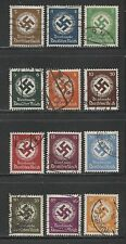 1934/38 Germany  Third Reich complete set Official Stamps  used