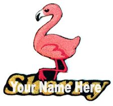 Flamingo Custom Iron-on Patch With Name Personalized Free