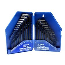 30 Piece Hex Key Set Metric And Imperial With Case - Blue Spot 15320 Allen
