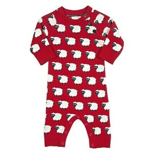 So cute Baby jersey romper suit. Organic cotton. Sheep design.
