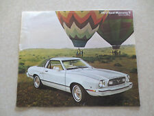 1977 Ford Mustang II cars advertising booklet