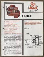1981 Mack Thermodyne Diesel E6-320 Engine original Australian sales brochure